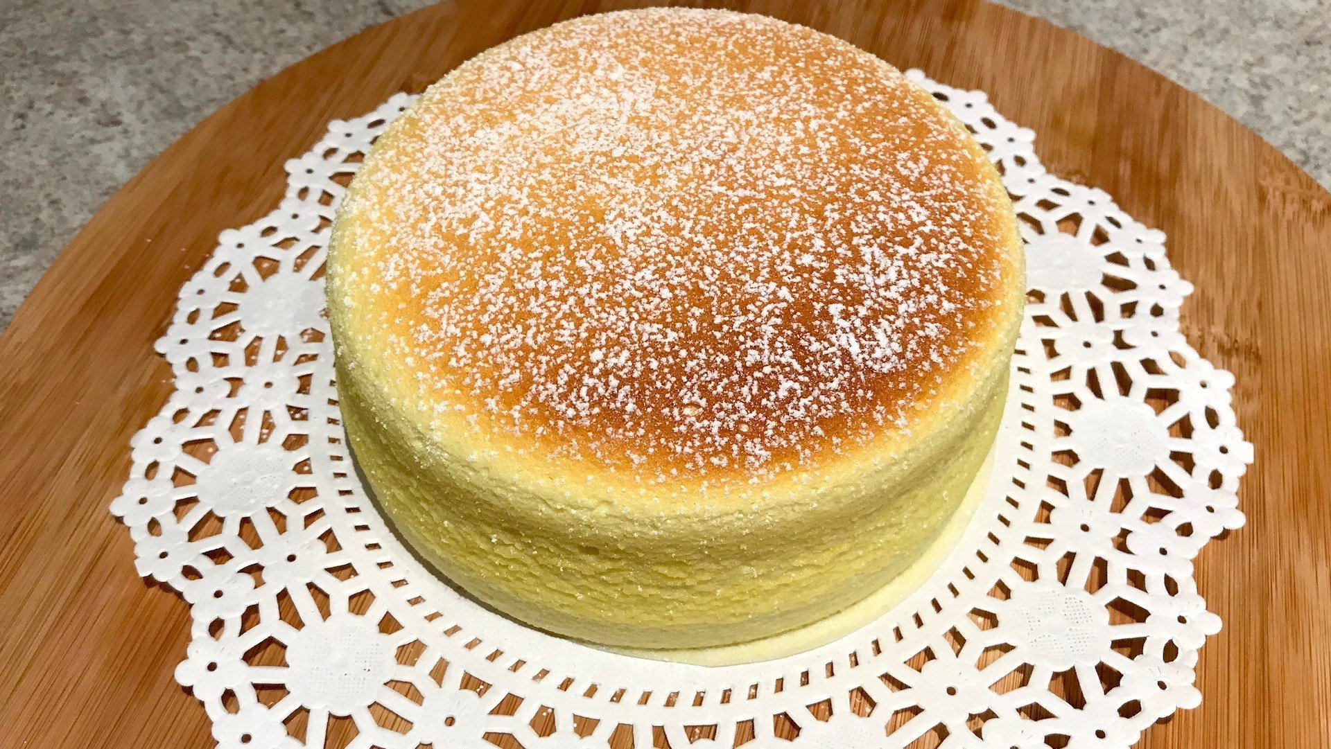 Japanese cheesecake photo